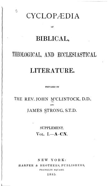 Download Cyclopedia of Biblical  Theological  and Ecclesiastical Literature Book