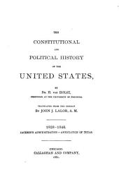 The Constitutional and Political History of the United States: Volume 2
