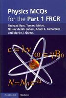 Physics MCQs for the Part 1 FRCR PDF