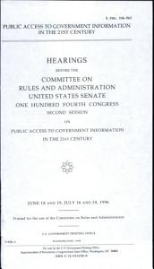 Public Access to Government Information in the 21st Century PDF