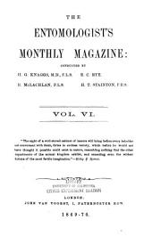 The Entomologist's Monthly Magazine: Volume 6