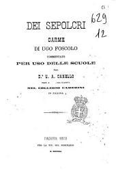 Dei sepolcri carme di Ugo Foscolo