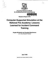 Research Report   U S  Army Research Institute for the Behavioral and Social Sciences PDF