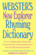 Webster s New Explorer Rhyming Dictionary PDF