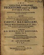 Senatus Romanus proditionis aeque ac proditoris osor