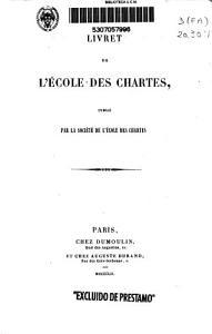 Livret du L Ecole des Chartes PDF