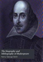 The biography and bibliography of Shakespeare