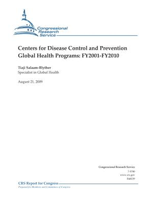 Centers for Disease Control and Prevention Global Health Programs PDF
