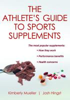 The Athlete s Guide to Sports Supplements PDF