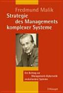 Strategie des Managements komplexer Systeme PDF
