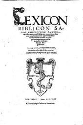 Andreae Placi Lexicon biblicum, sacrae philosophiae candidatis elaboratum