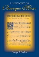 A History of Baroque Music PDF