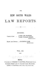 The New South Wales Law Reports, 1880-1900: Volume 3