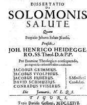 De Salomonis salute