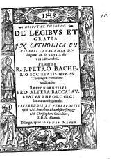 Disputat. theolog. de legibus et gratia
