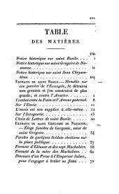 Extraits de Saint Basile, Extraits de Saint Grégoire de Nazianze...: précéde d'une notice historique sur Saint Basile