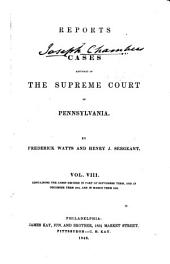 Reports of Cases Adjudged in the Supreme Court of Pennsylvania [1841-1845]: Volume 8
