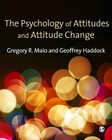 The Psychology of Attitudes and Attitude Change PDF