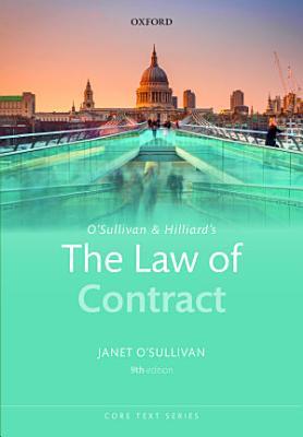 O Sullivan and Hilliard s the Law of Contract PDF