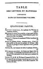 Julie, ou la nouvelle Héloïse, ou lettres de deux amants, habitants d'une petite ville au pied des alpes: Volume3