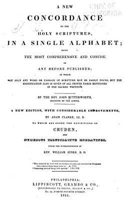 A New Concordance to the Holy Scriptures  in a Single Alphabet PDF