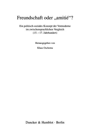 Freundschaft oder  amitie   PDF