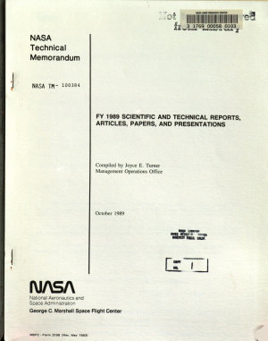 FY 1989 Scientific and Technical Reports  Articles  Papers  and Presentations