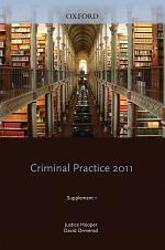 Blackstone's Criminal Practice 2011
