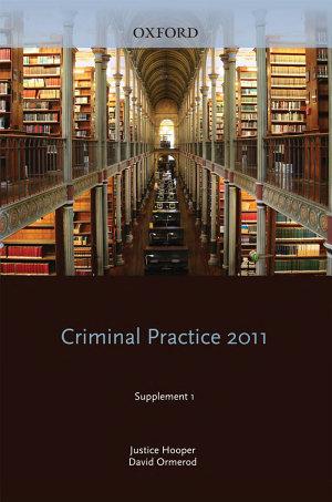 Blackstone s Criminal Practice 2011