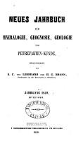 Neues Jahrbuch f  r Mineralogie  Geognosie  Geologie und Petrefaktenkunde PDF