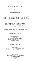 Reports of Cases Argued and Determined in the Supreme Court of the State of Illinois PDF
