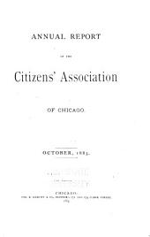 Annual Report of the Citizens' Association of Chicago