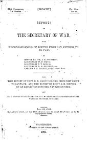 Reports of the Secretary of War: With Reconnaissances of Routes from San Antonio to El Paso