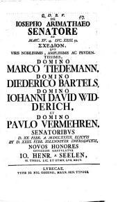 De Josepho Arimathaeo Senatore, ad Marc. XV, 43. ... Schedion