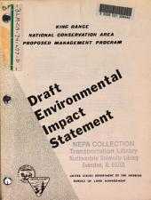 King Range National Conservation Area, Proposed Management, Humboldt County: Environmental Impact Statement