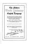 The Modern World Dictionary of the English Language ...