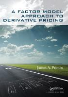 A Factor Model Approach to Derivative Pricing PDF