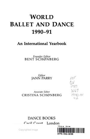 World Ballet and Dance, 1990-1991
