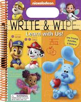 Nickelodeon  Write and Wipe  Learn with Us  PDF