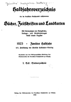 Halbjahrsverzeichnis der Neuerscheinungen des Deutschen Buchhandels PDF