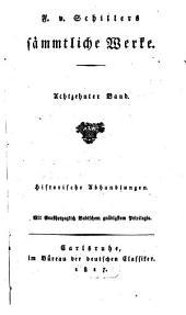 Sämmtliche Werke: Historische Abhandlungen, Band 18
