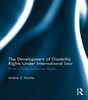 The Development of Disability Rights Under International Law PDF