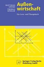 Außenwirtschaft: Ein Lern- und Übungsbuch