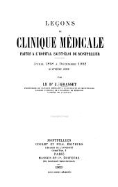 Leçons de clinique médicale: sér. avril 1898 à décembre 1902