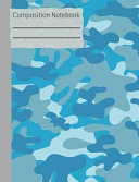 Camouflage Blue Composition Notebook - 5x5 Graph Paper
