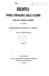Biblioteca storica topografica delle Calabrie dell'avv. Niccola Falcone