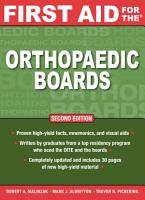 First Aid for the Orthopaedic Boards  Second Edition PDF