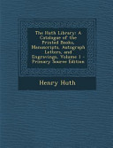 The Huth Library PDF