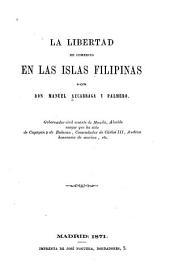 La libertad de comercio en las islas Filipinas