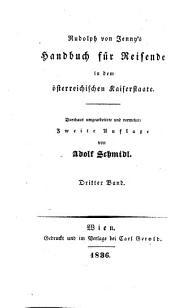 Reisehandbuch durch das Königreich Böhmen, Mähren, Schlesien, Galizien, die Bukowina und nach Jassy